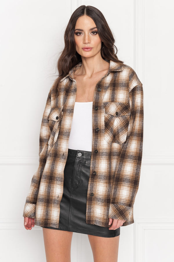 Storm Plaid Shirt jacket