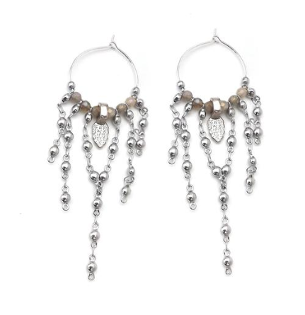 Poncho Charm Hoop Earrings