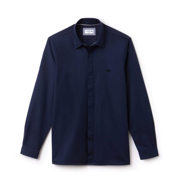 Motion Slim Fit Cotton Mini Piqué Shirt
