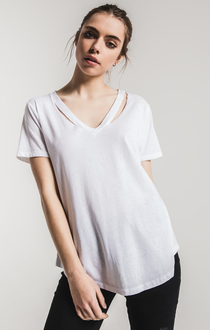 The Cut Out V-Neck Tee
