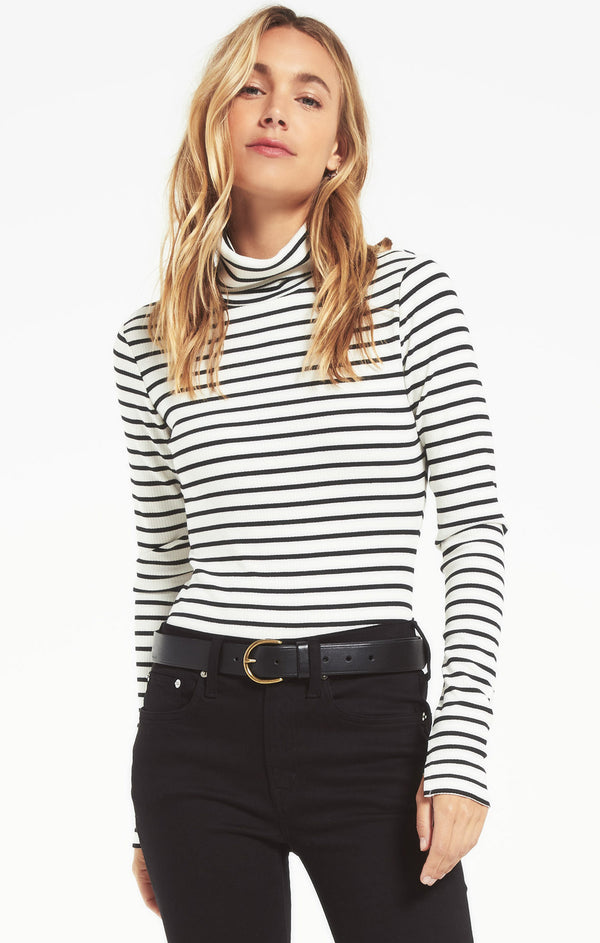 Chloe Striped Rib Bodysuit
