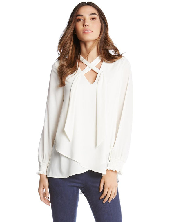 Wrap Neck Tie Top