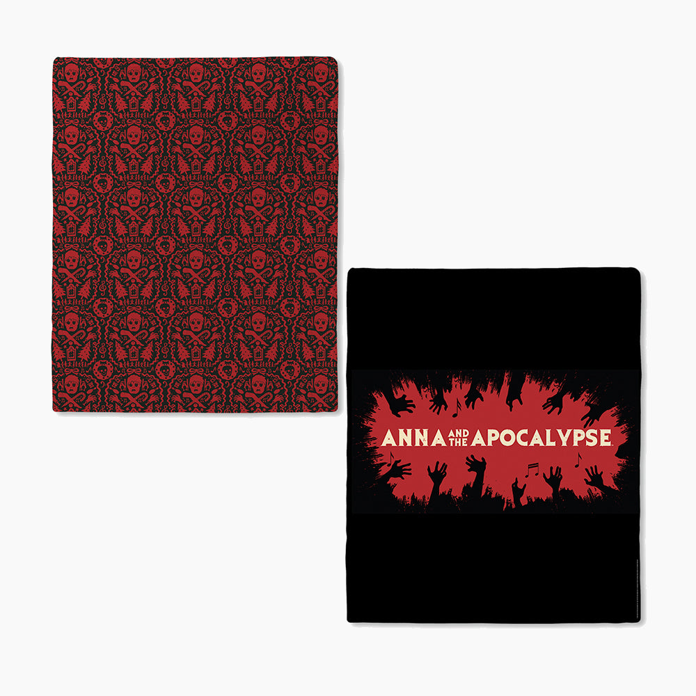 Anna and the Apocalypse Red and Black Logo Blanket
