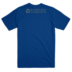 Additional image of Stargate Command Names Unisex Royal Blue T-Shirt