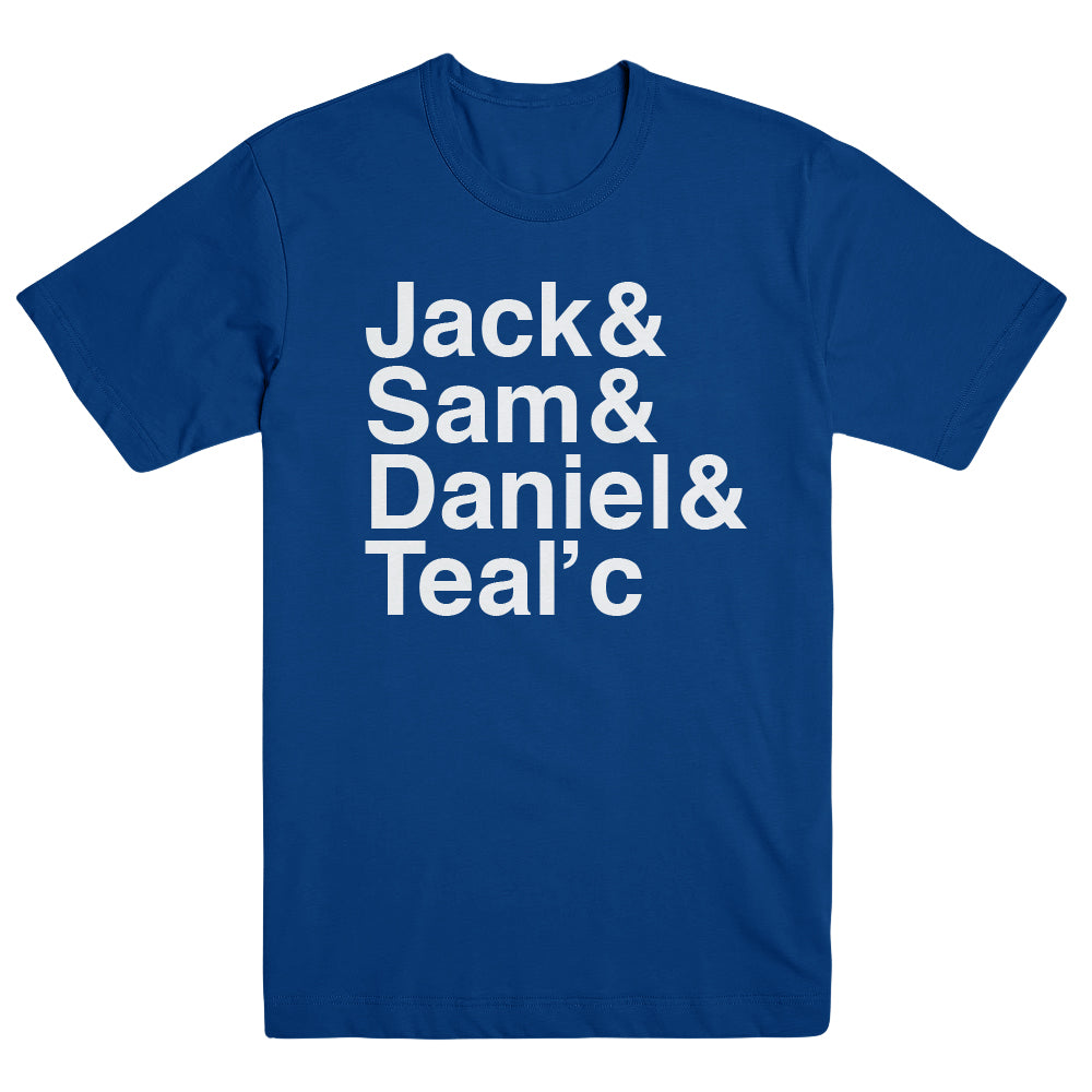 Stargate Command Names Unisex Royal Blue T-Shirt