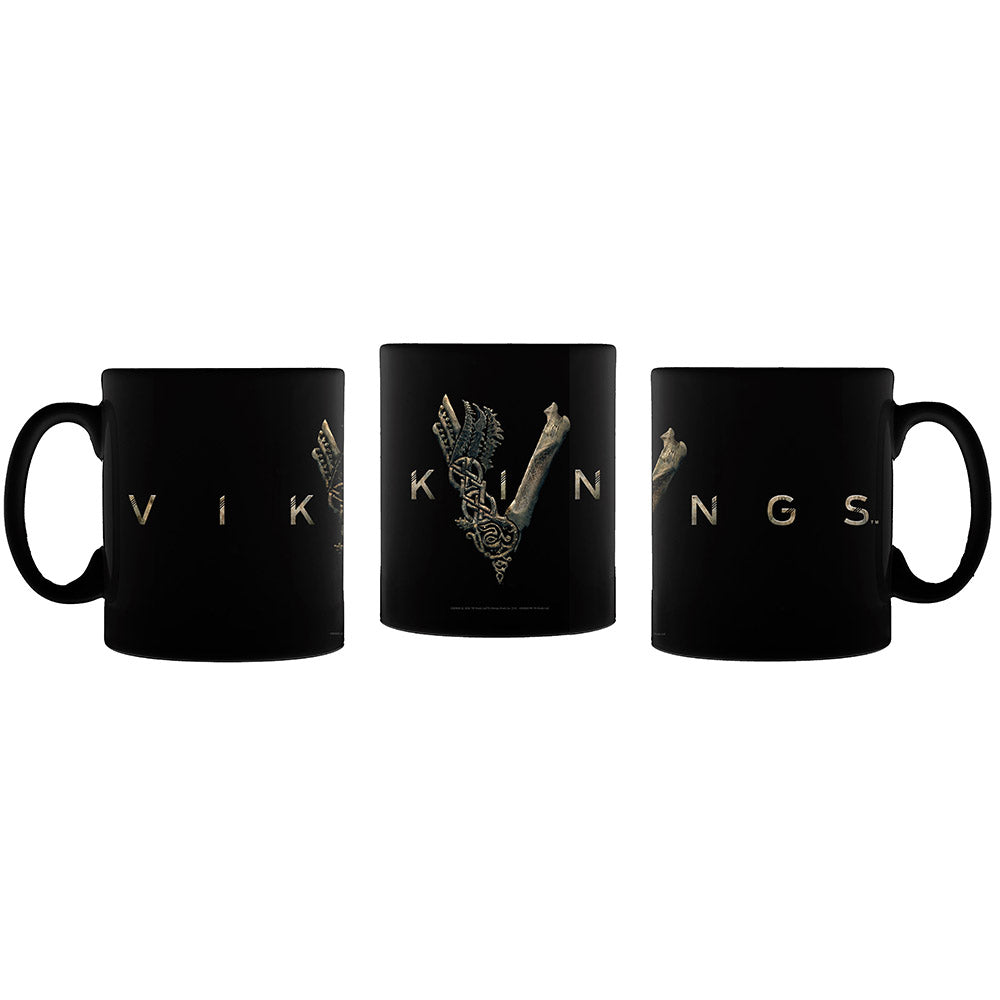 Vikings Logo Black Mug