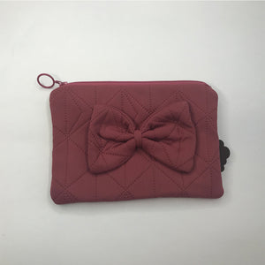 PREORDER! Clutch med sløjfe | Dark Rose