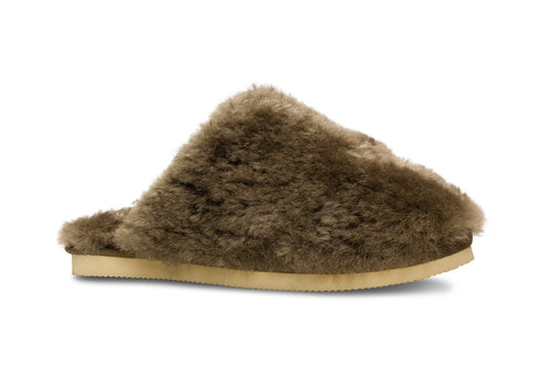 Lune 12 / Slipper Fluffy W / Green