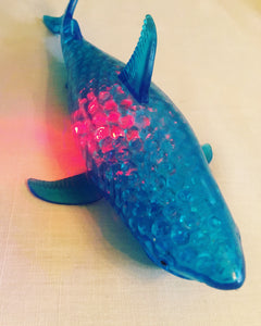 Light Up Beaded Squishy Shark Toy