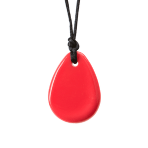 Chewigem Red Raindrop Necklace