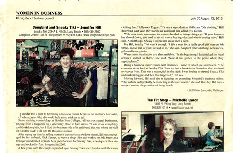 Women In Business article Songbird Boutique