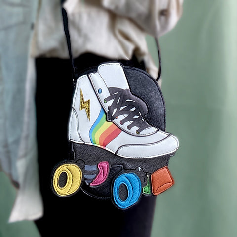 colorful roller skate purse