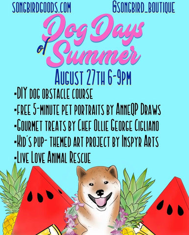 Dog Days of Summer, a past event at Songbird Boutique in Long Beach, CA
