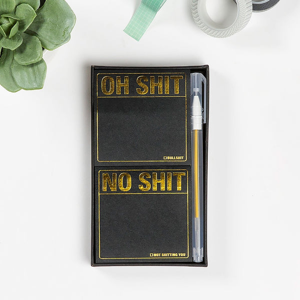 oh shit no shit productivity notepads