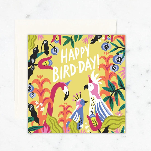 happy. bird day tropical bird card