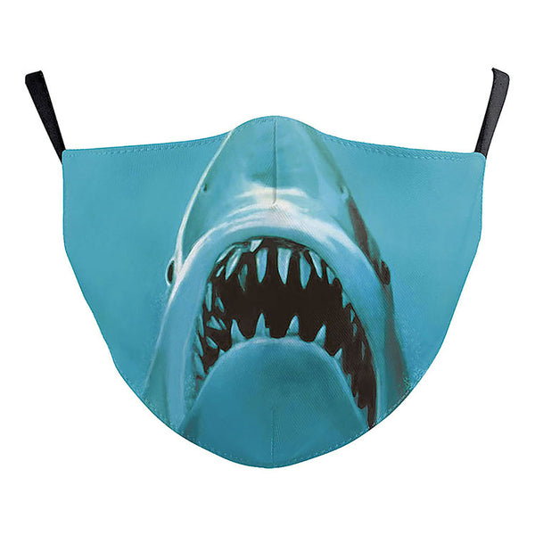 adult size shark attack face mask