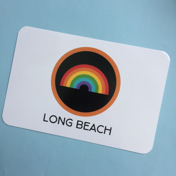 long beach rainbow post card