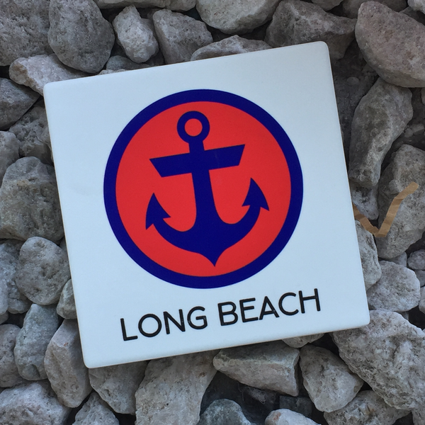 Long Beach Coaster with anchor badge