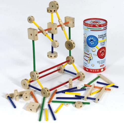 Makit Classic Wood Construction Toy