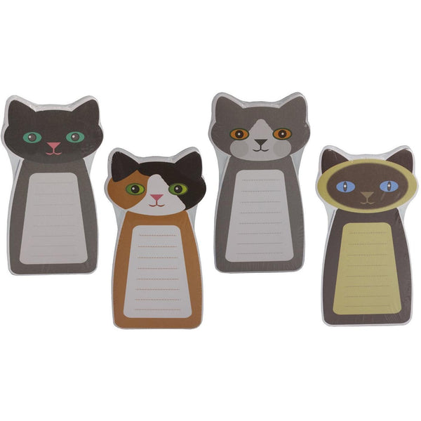 cat and kitten shaped note pads