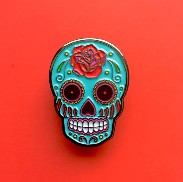Sugar Skull Enamel Pin