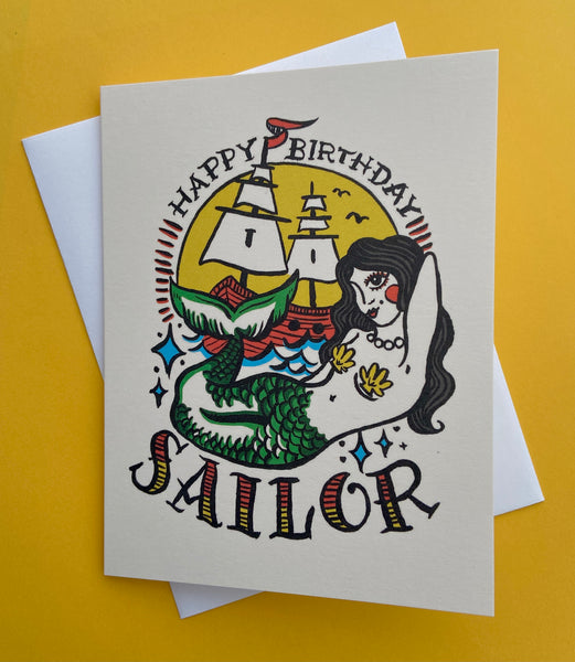 Happy Birthday Sailor Card