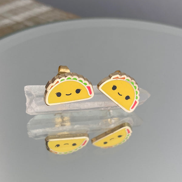 Taco Post Earrings
