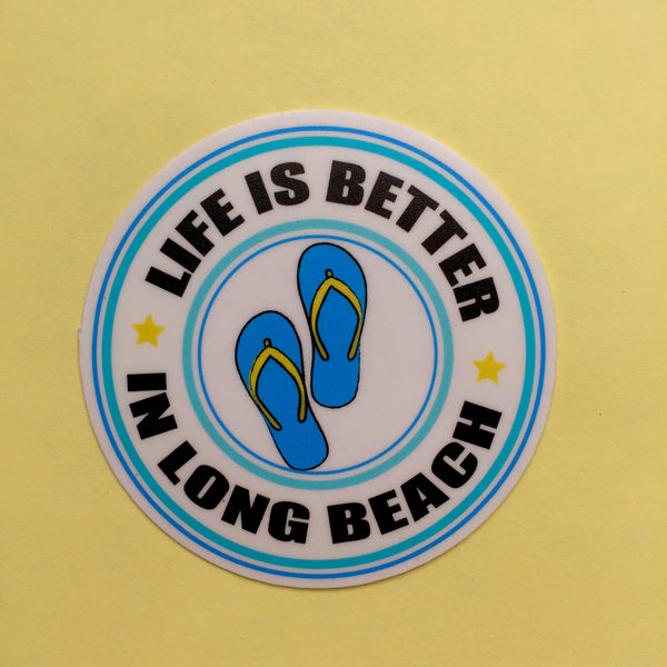 Life Is Better in Long Beach Sticker