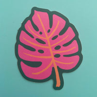 monstera leaf vinyl sticker