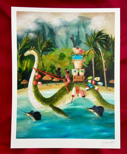 South Seas Serpent Art Print