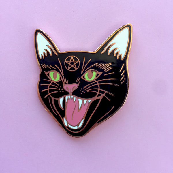 Hex Cat Enamel Pin