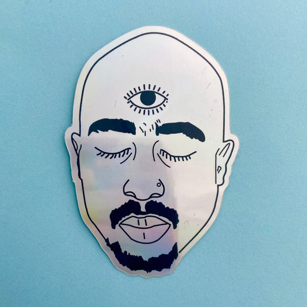 Holographic Tupac Sticker