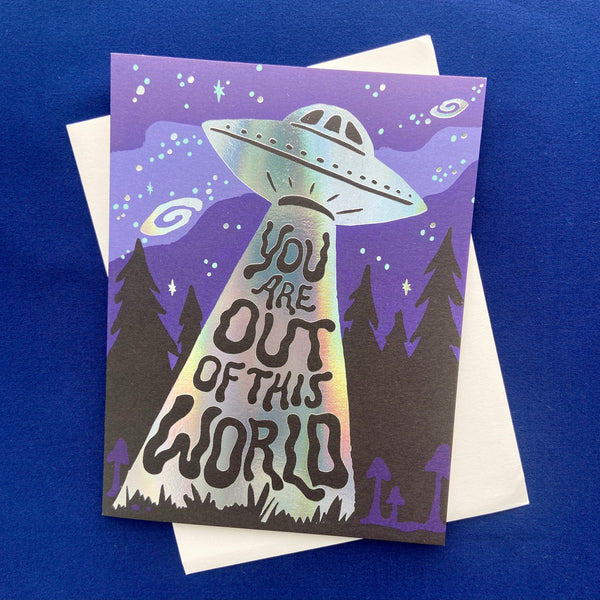 Out of This World UFO Card