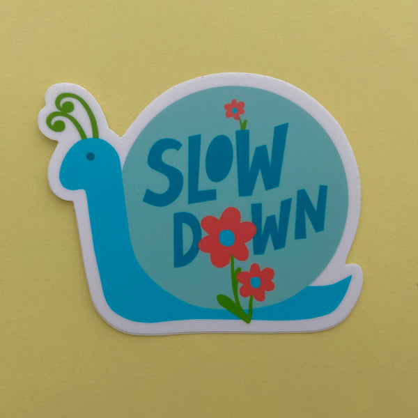 slow down snail sticker