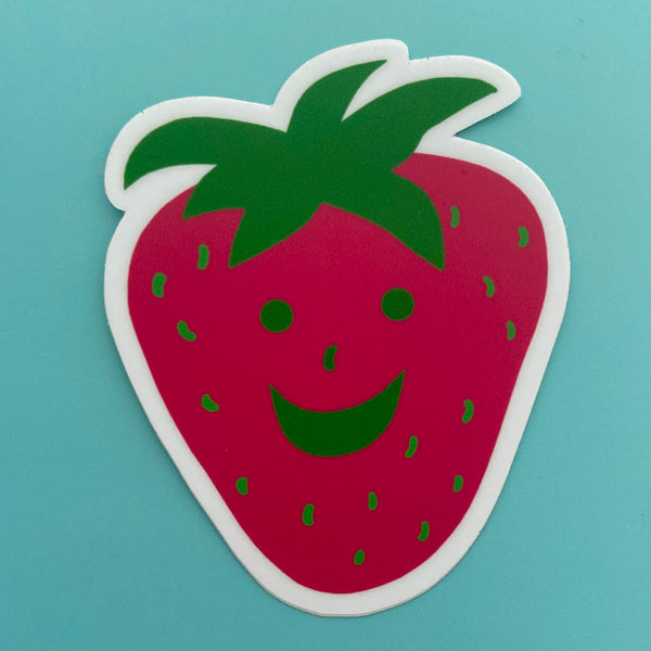 Happy Strawberry Sticker