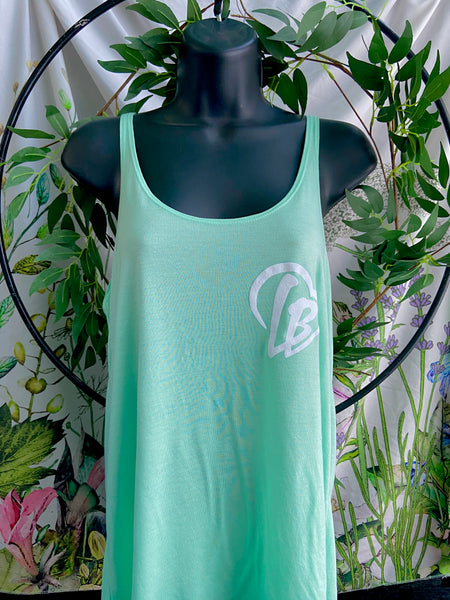 long beach love flowy tank top