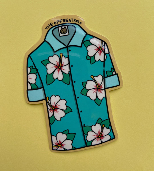 Hawaiian Shirt Sticker