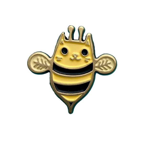 Cat Bee Enamel Pin
