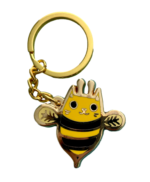 Cat Bee Keychain