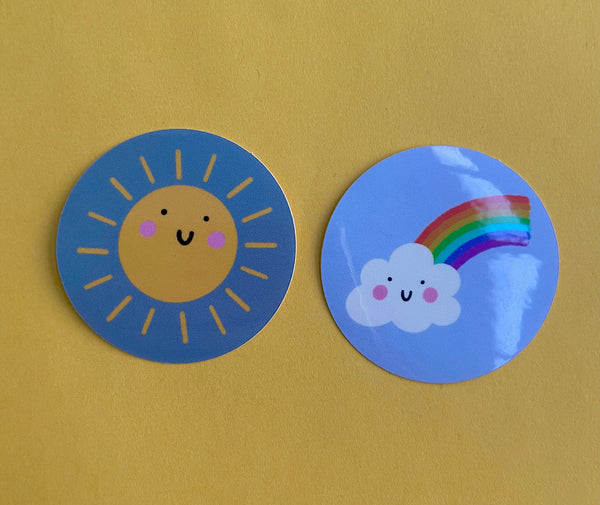Sun and Rainbow Sticker Pack