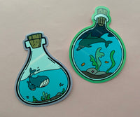 bottled ocean vinyl sticker pack