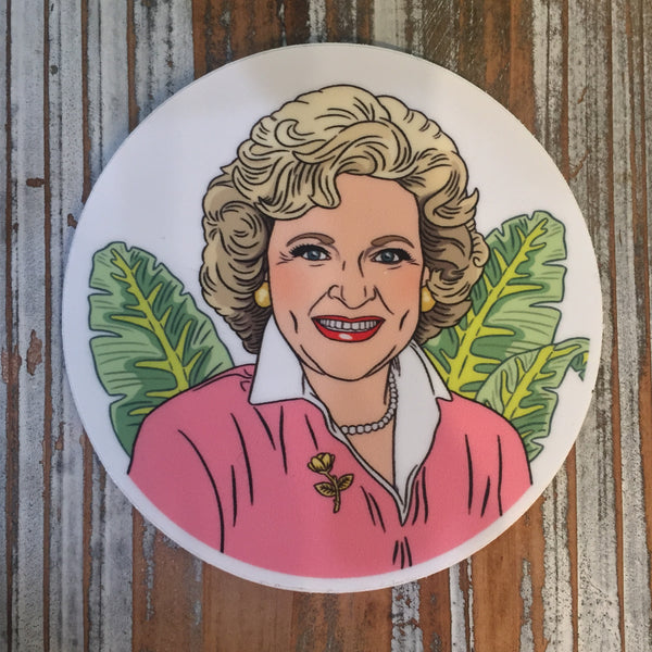 Betty White sticker Golden Girls
