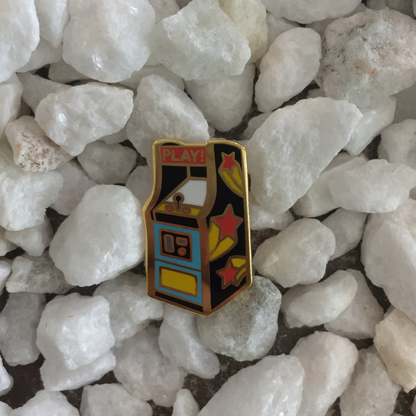 arcade game enamel pin