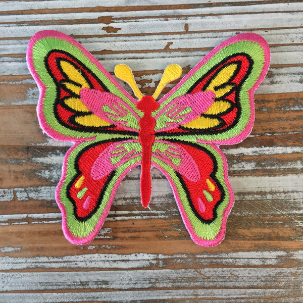 iron on embroidered butterfly patch