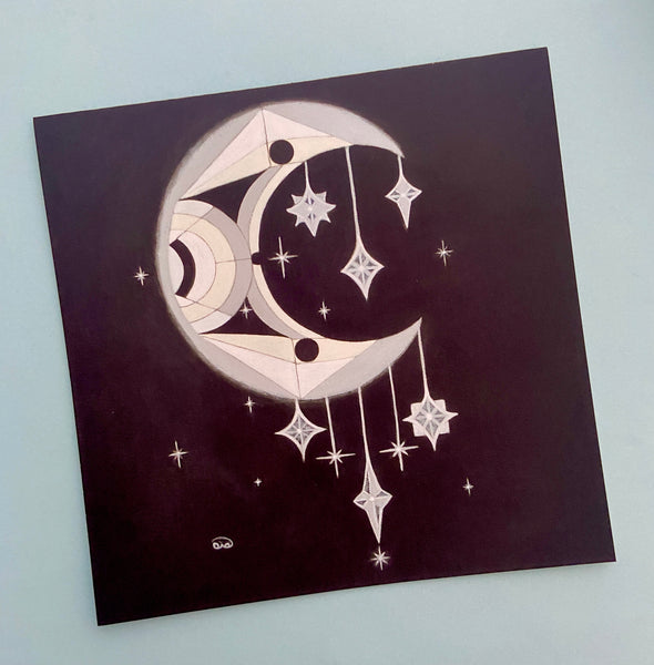 Luna Greeting Card