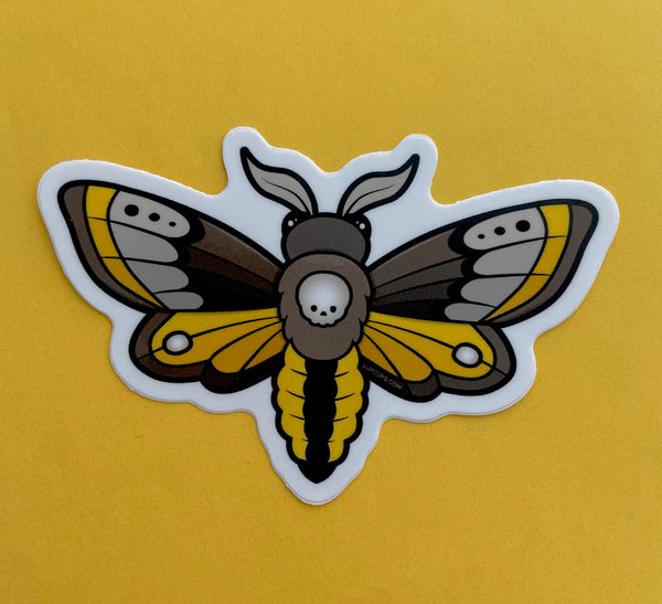 Skull Moth Sticker