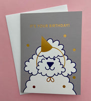 It's Your Birthday Poodle Card