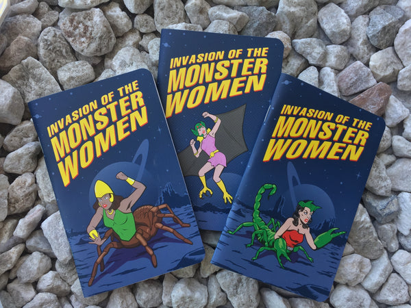 Monster Women set of 3 notebooks