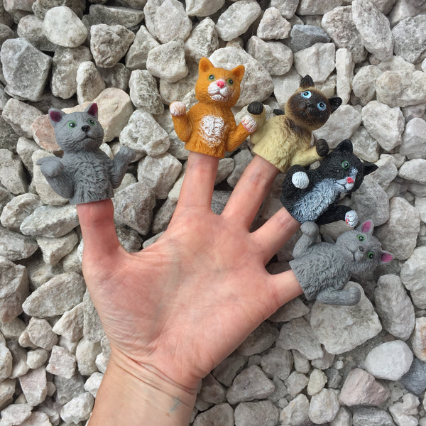 cute cat finger puppets