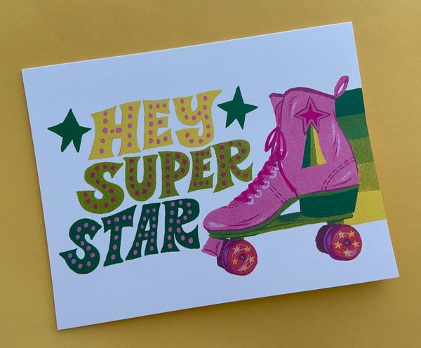 Hey Super Star Card